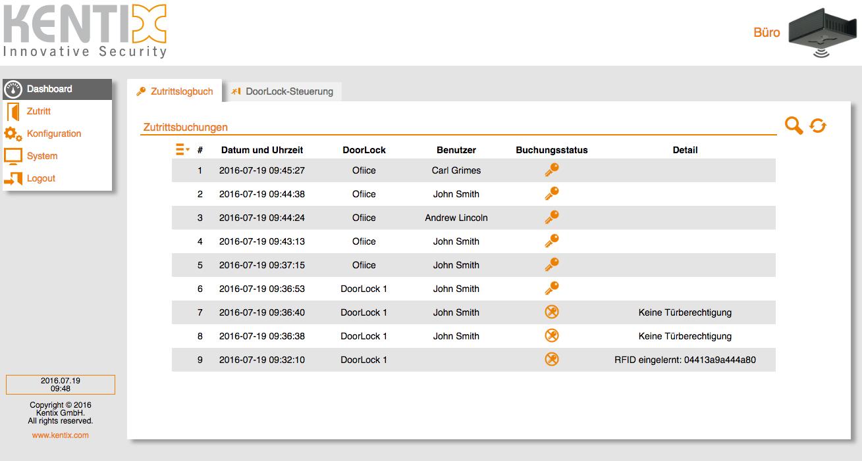 Screenshot DoorLock-AccessPoint