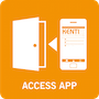 Zugang_mit_App_white_EN_Access_by_App_90x90