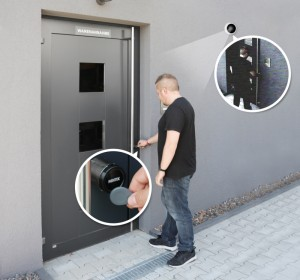 Online access control with video recording function