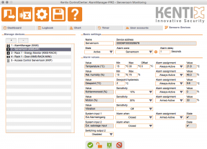 Kentix ControlCenter - Sensors-Devices