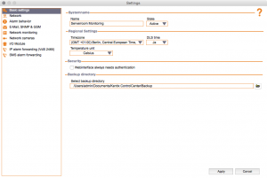 Kentix ControlCenter - Basic settings