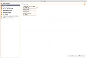 Kentix ControlCenter - Network settings